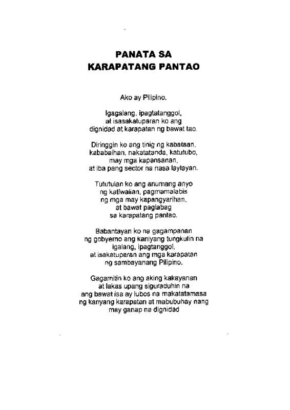 PANATA SA KARAPATANG PANTAO.pdf