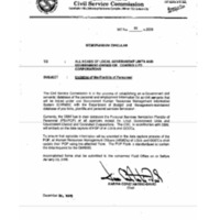 CSC MC 20, s. 2005: Updating of the Plantilla of Personnel