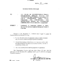 CSC MC 21, s. 2010: Entitlement of Compulsory Retirees to Salary Increases for Services Rendered during the Period of Extension