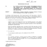 CSC MC 27, s. 2017: Administration of Agency Requests for Special Conduct of Career Service Examination-Pen and Paper Test (CSE-PPT)