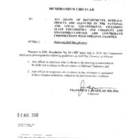 CSC MC 17, s. 2010: Policy on Half Day Absence