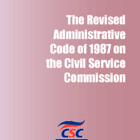 Administrative Code of 1987 on the Civil Service Commission (Civil Service Law; Title I-A, Book V of Executive Order 292)