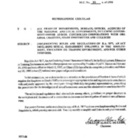 CSC MC 30, s. 1995: Implementing Rules and Regulations on R.A. 7877, An Act Declaring Sexual Harassment Unlawful  in the Employment, Education or Training Environment, and for Other Purposes