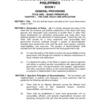 Republic Act 7160: Local Government Code of 1991